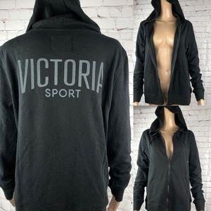 Victoria's Secret Sport Zip Sweatshirt in Black